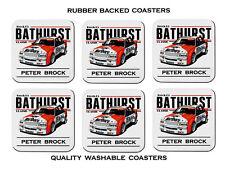 Peter Brock VK Race Car Bathurst Set of 6 Quality Rubber Drink Coasters