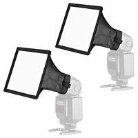 Neewer Speedlite soft box flash light diffuser 2 pack kit 6x5 inch F/S w/Track#