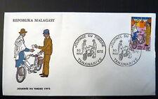 MADAGASCAR  501   PREMIER JOUR FDC     FACTEUR ,JOURNEE TIMBRE       10F    1972