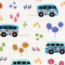 By 1/2 Yard Michael Miller Fabric Hit the Road ~ Camper Volkswagen Bus Van Retro