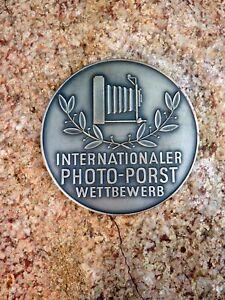 Medaille Internationaler Photo Porst Wettbewerb 1954 versilbert Sammlerstück