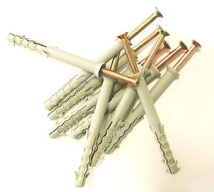 Nylon Hammer in Frame Fixings, Rahl Masonry Plugs & Screws M8,M10
