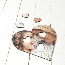 Blank Dye Sublimation Jigsaw Puzzle Hardboard Heart Shaped Clam Press - PTMH
