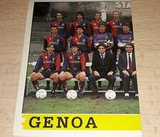 FIGURINA CALCIATORI PANINI 1994/95 GENOA SQUADRA ALBUM 1995