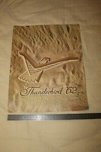 (62) Large Brochure catalogue 1962 FORD Thunderbird '62