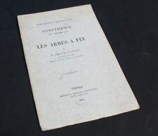 Conférence sur les Armes à Feu / Emanuel BUXTORF / TROYES 1872