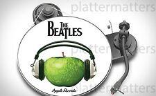 "Ltd.Ed. BEATLES Apple Records Headphones  7"" or 12"" inch TURNTABLE platter MAT"