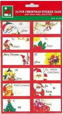 72 Christmas gift tags present gift wrap self adhesive labels stickers sticky