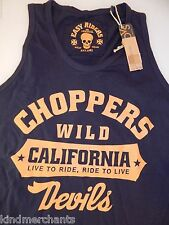 Wild Devils California Choppers Motorcycle Shirt Tank Top T-shirt S