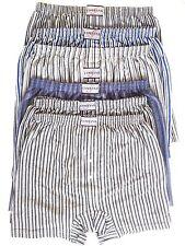 100% Cotton New Men's Boxer Shorts Underwear Button Fly, Long Length Shorts