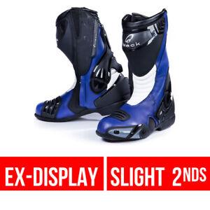 Black Venom Motorbike Race Motorcycle Boots 45 UK 11 Blue GhostBikes Track Road