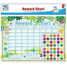 6 Reward Star Charts Childrens Jungle Themed Behaviour Chore Sticker Sheets Pen