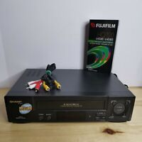 Sharp VC-A572U 4 Head Hi-Fi VCR Video Cassette Recorder VHS Player #TESTED WORKS