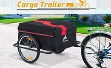 Aosom Elite Ii Bike Cargo And Luggage Trailer - Red/Black