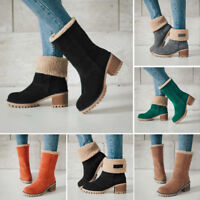 Women Winter Snow Boots Warm Thickened Cotton Ankle Boots High Heel Casual Shoes
