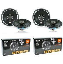 "2 X PAIR JBL GTO628 +2YR WARANTY 6.5"" 2 WAY CAR AUDIO COAXIAL SPEAKERS NEW"