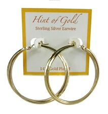 HINT OF GOLD Earwire 14k Gold Plated Hoops Earrings MSRP$50.00