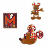 Disney Store Mickey Memories July Pin Set of 3 Limited Release New with Card