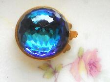 #397 Vintage Clasp Bermuda Blue Faceted Swarovski One Strand Bracelet Necklace