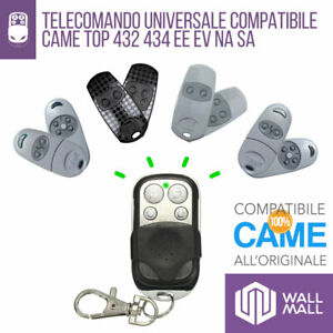 TELECOMANDO CANCELLO GARAGE DUPLICATORE COMPATIBILE CAME TOP 432 434 EE EV NA SA