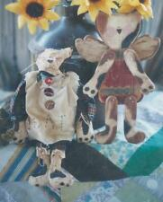 Pattern-Extremely Prim Cat Design-Wood, Fabric Or Paper Mache! Hickety Pickety