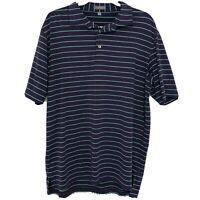 Peter Millar Summer Comfort Men's Short Sleeve Polo Shirt Purple Teal Size Large