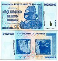 ZIMBABWE 1000000000000 (100 TRILLION) DOLLARS 2008 P-91 UNC