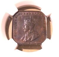 Straits Settlements One Cent 1920 NGC MS 62 BN