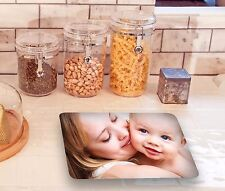 Personalised Glass Chopping Board Any Photo/text Personalised gift worktop saver