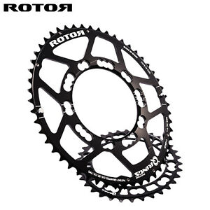 ROTOR Qring Oval Chainring SET Road 110BCDx5 - 50,52T / 34,36,39T