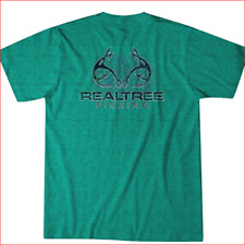Authentic Men's Realtree Fishing Graphic S/S Striped Performance Tee (X-Large)