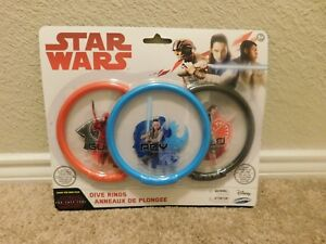 Brand new in the package Disney SwimWays Star Wars Dive Rings