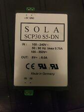 SOLA SCP30 S5-DN  POWER SUPPLY 6 AMP 5 VDC 100-240 VAC