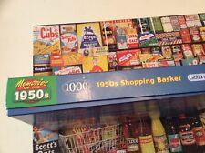 1950s Shopping Basket Gibsons 1000 Piece Jigsaw