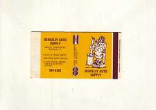 American Ace match box #317 - Berkeley Auto Supply - Berkeley, Illinois
