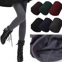 Damen Thermo Leggings Warm Fleece Winter Blickdicht Strumpfhose Leggins Leg