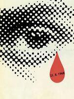PROPAGANDA PRAGUE SPRING BLOOD TEAR 1968 LARGE POSTER ART PRINT BB2698A