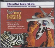 Holt Science & Technology Interactive Explorations Pc Cd-Rom *New*