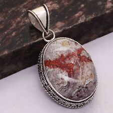 "Pendant Jewelry 2.16"" Ap 29117 Crazy Lace AgateEthnic Handmade Antique Design"