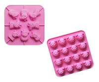 Mini Cartoon Pig Face 3D Silicone Shaping Mould & Lollipop Moulds Bundle