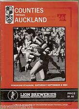 #YY. NEW ZEALAND  RUGBY UNION PROGRAM, COUNTIES V AUCKLAND, 8/9/1984