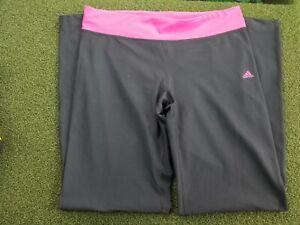 Adidas Golf + L + POLY + Pink / Black + Yoga Pants + gw00604