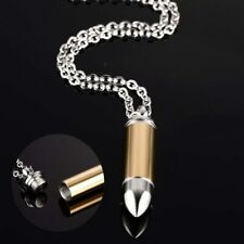 Vnox Hollow Point Bullet Pendant For Men Women Hand Polished Stainless Steel