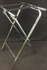 "One New Ex-Cell Foldable Chrome Server Tray Stand 6-760 31"" Tall"