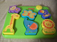T1 Fisher-Price Silly Sounds Safari Animals Puzzle, Jungle, Musical, Matching