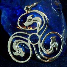 TRISKEL Drachen 9 Amulett Silber Celtic Kelten Larp Wicca Gothic Dragon