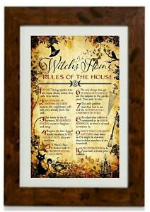 Witches Home Rules Of The House Framed Print