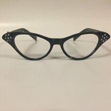 Rhinestone Glasses Cat Eye Clear Lens 50's Hip Hop Halloween Costume Coseplay