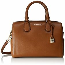 Michael Kors MERCER Pebbled Leather Medium Leather Duffle Bag Luggage Nwt $298