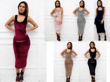 Patternless Long Dresses for Women with Strapless/Bandeau